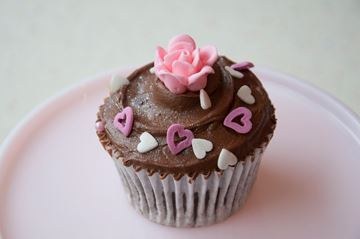 Picture of Mother's Day Theme Chocolate Cupcake