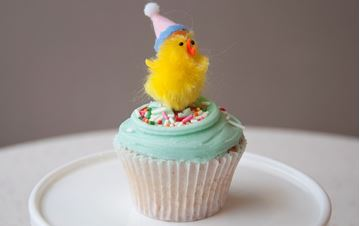 Picture of Easter Theme Vanilla Cupcake