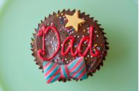 Picture of Father's Day Theme Chocolate Cupcake