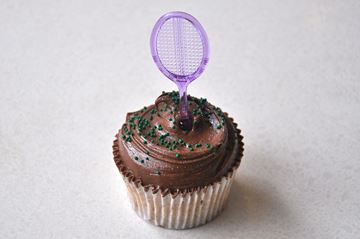 Picture of Wimbledon Theme Chocolate Cupcake