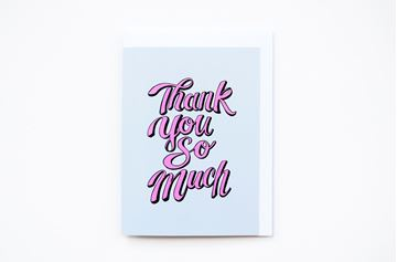 Picture of Thank You So Much Greeting Card