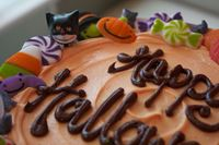 Picture of Halloween Theme Celebration Cake