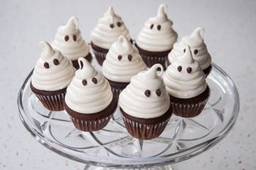 Chocolate Marshmallow Mini Ghost Cupcake