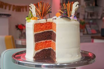 Picture of Halloween Stripey Cake