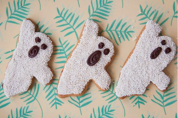 Picture of Halloween Ghost Biscuit