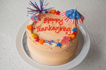 Picture of Thanksgiving Theme Celebration Cake