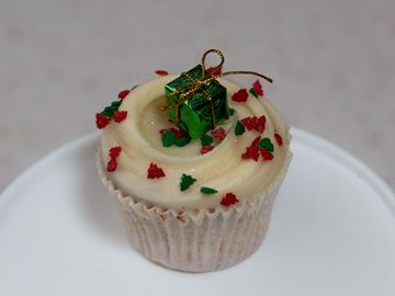 Picture of Christmas Vanilla Cupcake