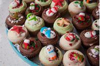 Picture of Christmas Chocolate Mini Cupcake