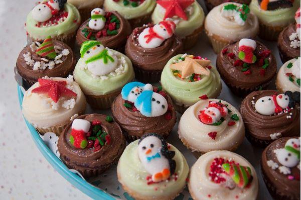 Picture of Christmas Vanilla Mini Cupcake