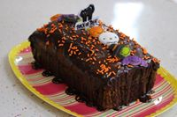 Picture of Halloween Chocolate Orange Marble Loaf