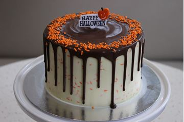 Picture of Candy Corn Vanilla & White Chocolate Cake