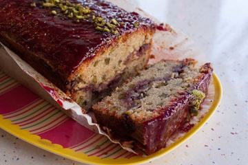 Picture of Pistachio & Raspberry Loaf