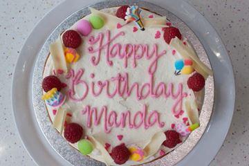 Picture of Raspberry White Chocolate Celebration Cake