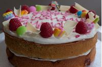 Picture of Raspberry White Chocolate Celebration Cake