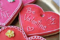 Picture of Valentine's Day Iced Heart Shaped Biscuit