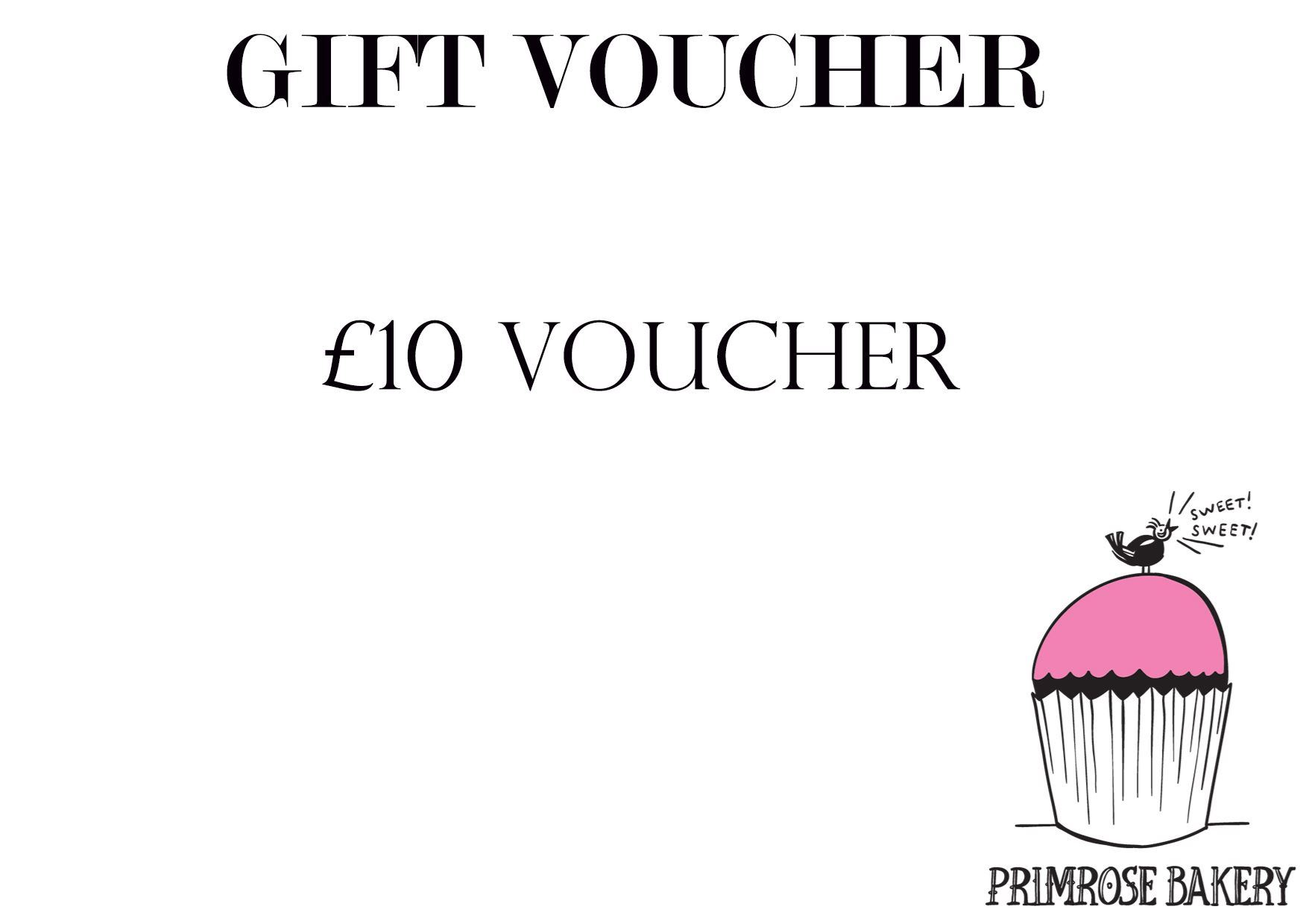 Primrose bakery 10 gift voucher picture of 10 gift voucher negle Image collections