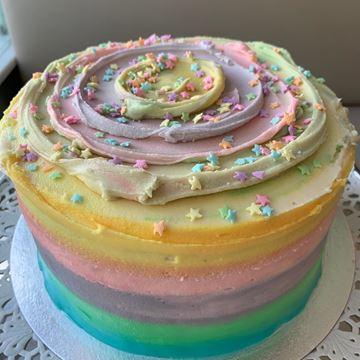 Picture of Rainbow Marble Layer Cake