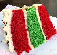 Picture of Christmas Stripey Celebration Cake
